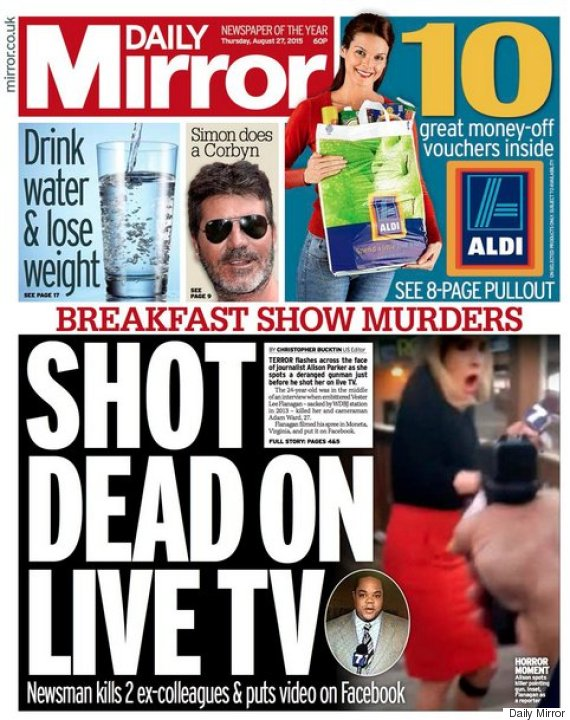 va-shooting-daily-mirror-front-page