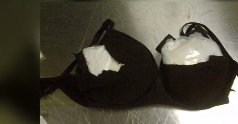 Woman arrested for stuffing bra with cocaine