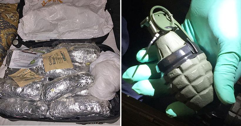 $800,000 drug bust nets heroin, meth, live grenades in Midvale