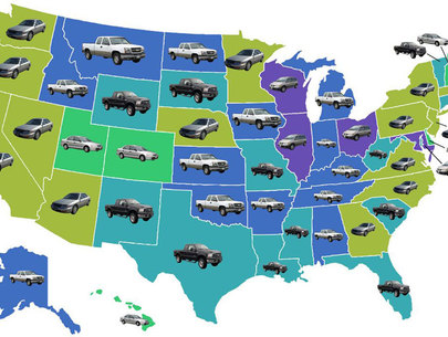 The most stolen vehicle in each state