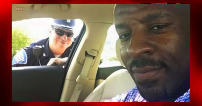 Selfie goes viral following traffic stop