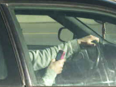 We catch people texting and driving -- what is their excuse?