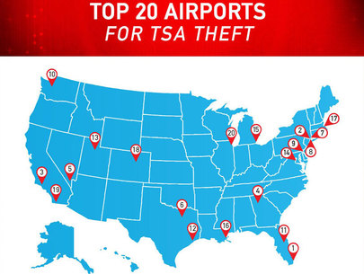 Top 20 Airports for TSA Theft