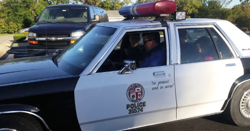Thief steals crucial fixture from car restored as vintage LAPD cruiser