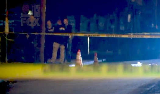 Teenage son killed, dad injured in drive-by shooting at bus stop