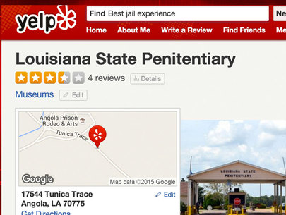 Yelp reviews of jails and prisons