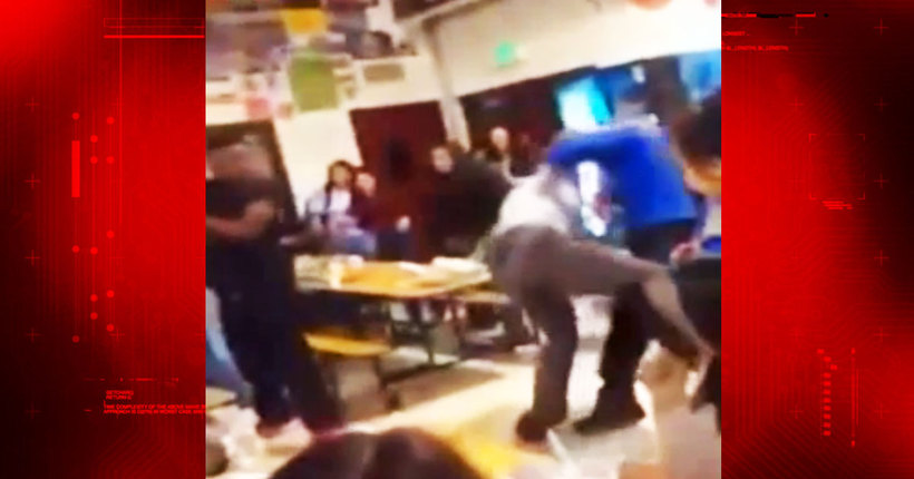 High school principal shoved to floor, students arrested