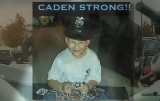 Tear-jerking ceremony for 11-year-old honorary officer