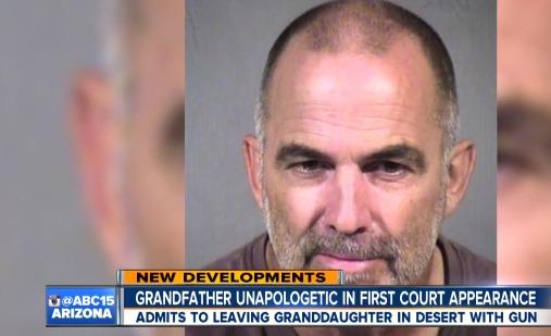 Grandpa tells court why he left granddaughter in desert for hours