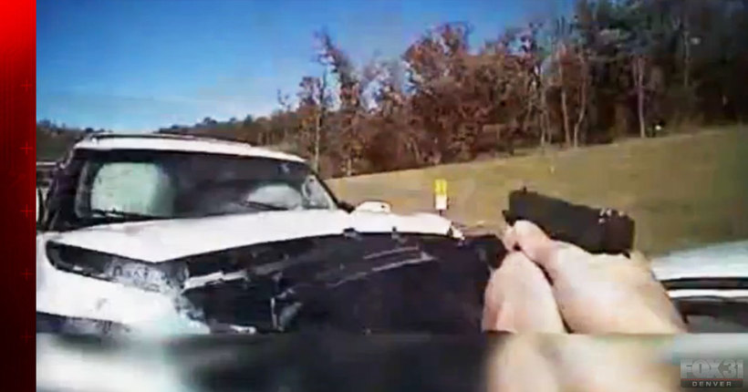 Body camera video shows woman plow into officer after police chase