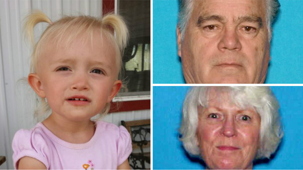 Great-grandparents arrested for allegedly kidnapping 2-year-old
