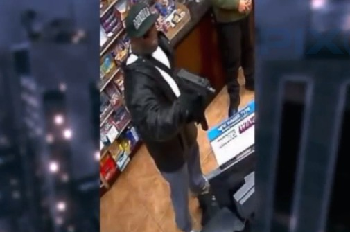 Suspect wanted for machine-gun robbery of bodega