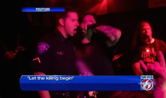 Police officer relieved of duty over 'let the killing begin' lyrics