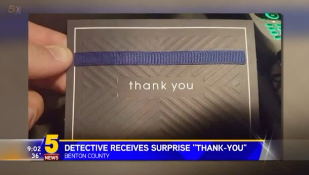 Detective gets thank-you note after traffic stop