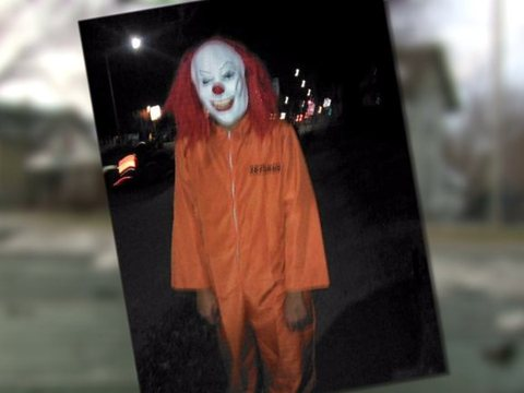 Mom says her 15-year-old is town's 'creepy clown'