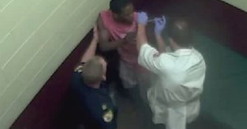 Injected: Video recorded inside jail cell after man's arrest goes viral