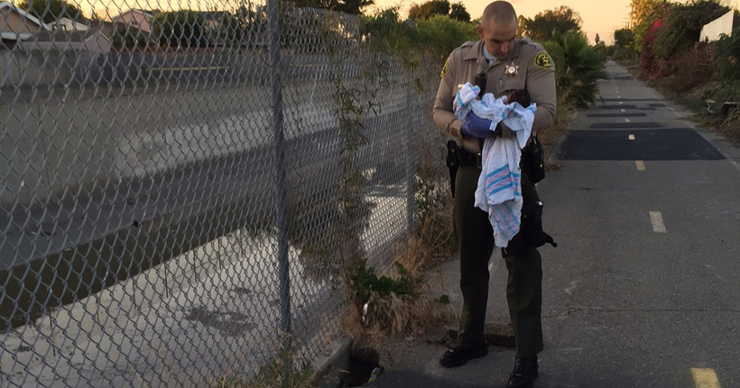 Newborn stable after being found 'buried alive' in Compton