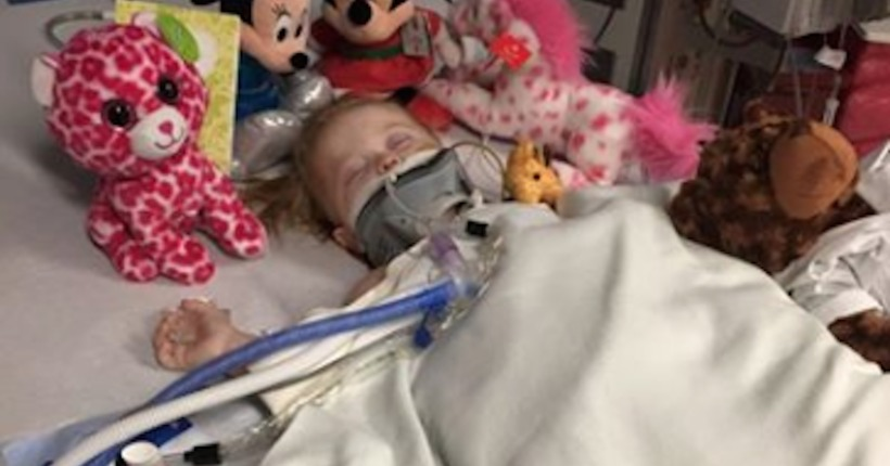 Father posts heartbreaking photo of dying daughter; mom, boyfriend charged