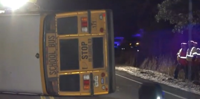 School bus driver accused of DUI in rollover crash