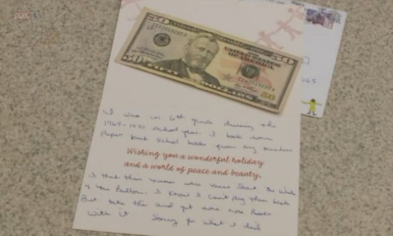 School receives apology and payment 45 years after student stole books
