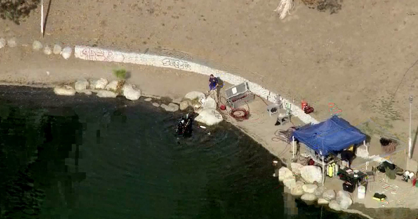 FBI divers search for evidence in shooting investigation at San Bernardino lake