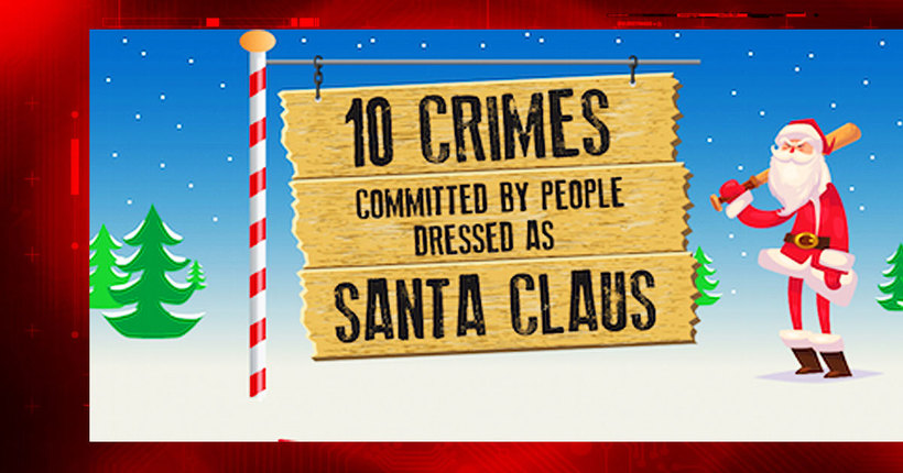 10 crimes committed by people dressed as Santa Claus