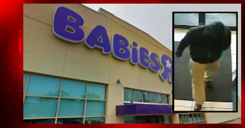2 employees bound, robbed at Long Island Babies 'R' Us; suspect wanted in pattern of 14 robberies