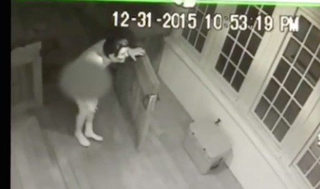 Family catches naked lurker in Ronald Reagan mask outside home
