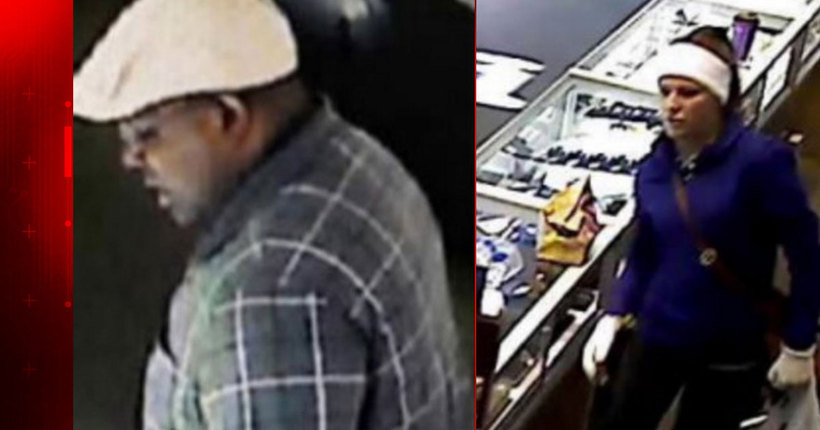 FBI seeking man, woman involved in multiple jewelry store robberies