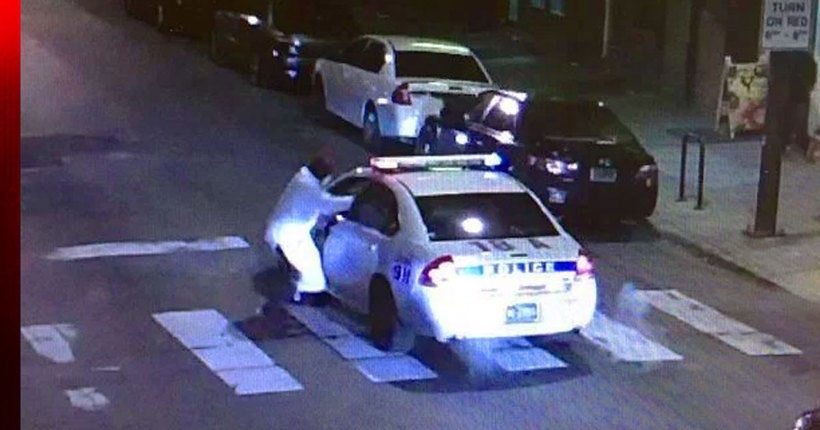 Gunman ambushes Philadelphia cop in cruiser; officer stable