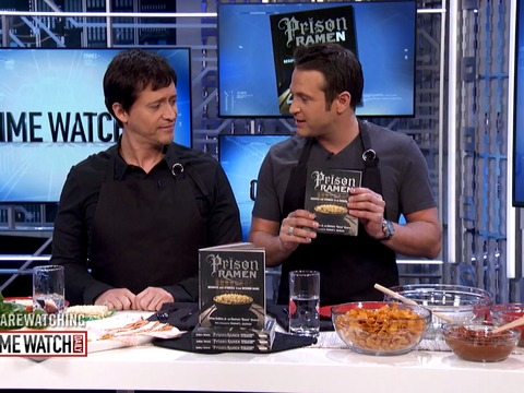 'Prison Ramen' co-author Collins cooks torta recipe on set