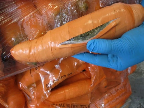 Ton of pot found hidden in fake carrots