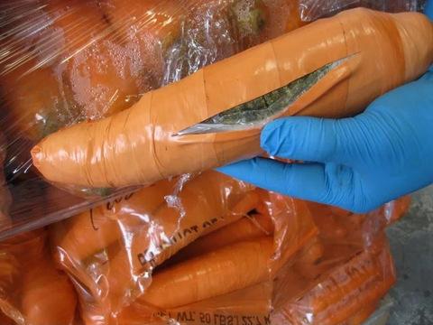 Ton of pot found hidden in fake carrots