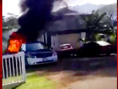 Woman in serious condition after being set on fire
