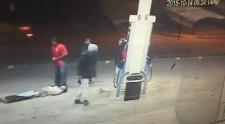 Vicious beating at gas station caught on video