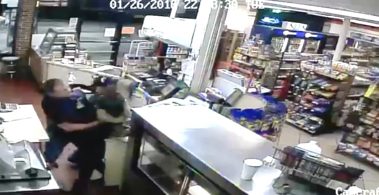 Caught on video: Iraq War veteran takes down attempted robber
