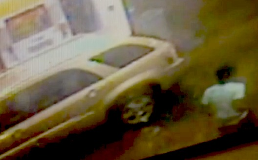 Video shows suspect steal SUV with 3-year-old inside