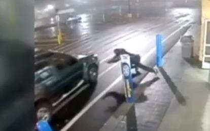 Shoplifter nearly run over outside Walmart