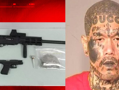 Guns, drugs found after police pull over gang member