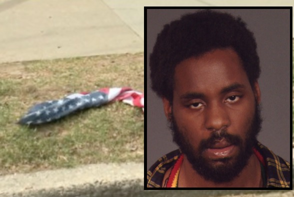 Man accused of slashing woman while wearing American flag bandanna arrested