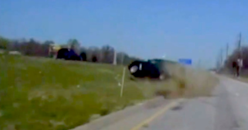 Video: Officer saves suspect's life after chase, crash