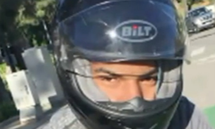 Caught on tape: Motorcyclist sought in alleged road-rage attack