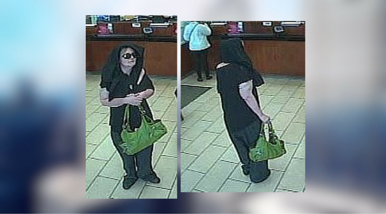 Woman with green handbag wanted for robbing 3 banks
