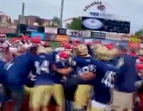 NYPD & FDNY brawl during charity football game