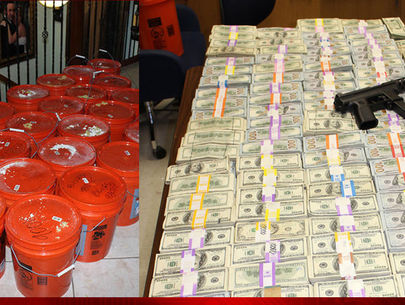 Miami drug bust: $24M found hidden in buckets; siblings arrested