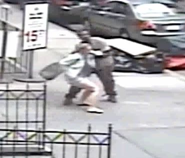Video catches 'emotionally disturbed' man shoving feces down stranger's pants
