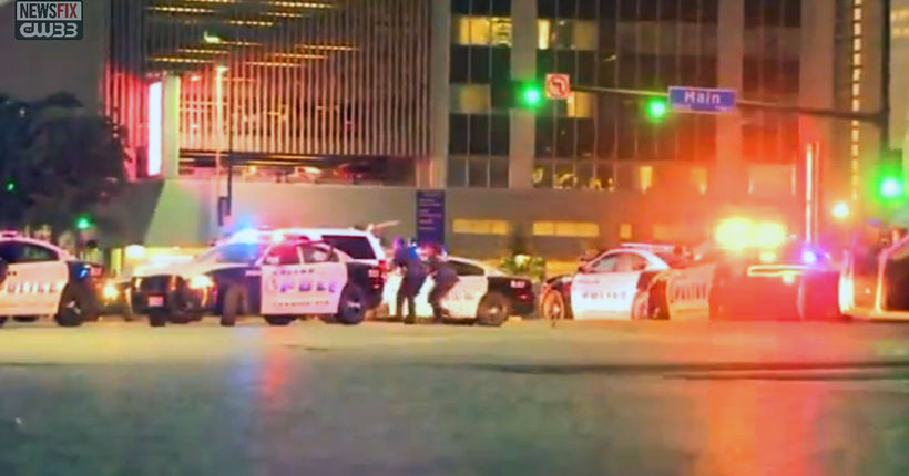 12 officers shot, 5 dead in shooting at downtown Dallas protest