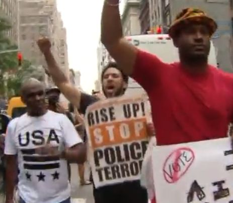 Thousands in NYC protest fatal police shootings; at least 40 arrested