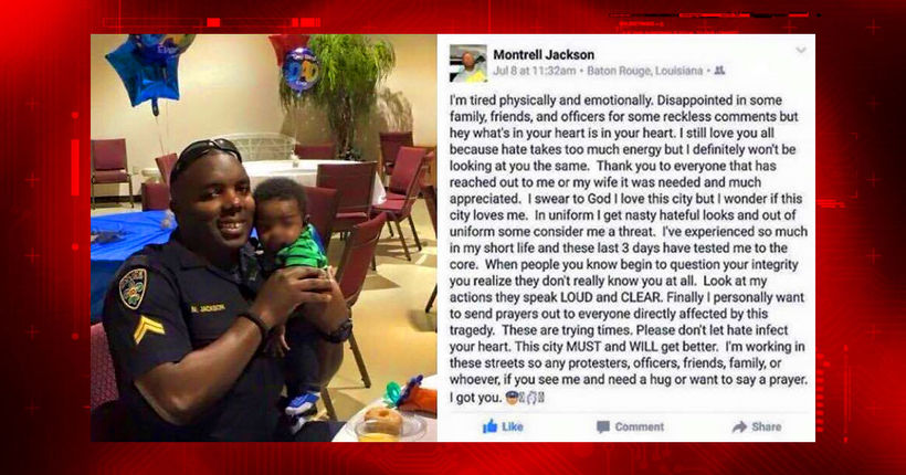 Facebook post from officer killed in Baton Rouge shooting goes viral