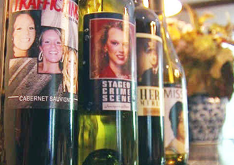 Faces of missing, murdered featured on wine bottles